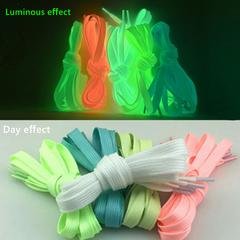 Luminous Shoelace Athletic Sport Canvas Shoes Lace Glow In The Dark Night  Fluorescent Shoelaces blue 120cm