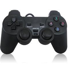 USB Wired PC Game Controller Gamepad Shock Game Pad Joypad Control PC Computer Laptop Gaming Play black