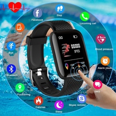 2019 Mobile Week 1.33''TFT Color Screen Smart Band Sport Fitness Bracelet Activity Tracker Watches black 1.33''