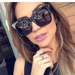 New Fashion Square Sunglasses Women Men Brand Designer Retro Mirror Sunglasses Vintage glasses grey gradient square