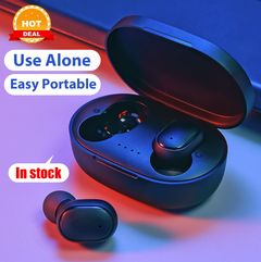 Bluetooth Earphones 5.0 TWS Wireless Earphones Headset Earbuds With Charge Box For Xiaomi Samsung black