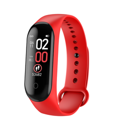 Smart band 4 Fitness Tracker Watch Sport bracelet Heart Rate Blood Pressure Smartband Monitor Health red one size