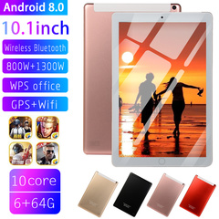 Hot Sale New 10 inch 3G LTE Tablet PC Android 8.0 Octa Core 6GB RAM 64GB ROM WiFi GPS pink