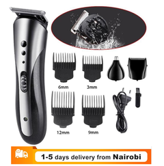Hot Orginal 3 in1 Rechargable Ear Nose Electric Shaver Beard Face Eyebrows Shaving Nose Hair Shaver as picture normal