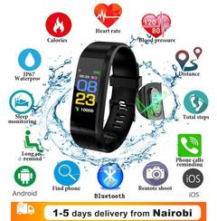 Smart Band Fitness Sports Blood Pressure Heart Rate Monitor Smartwatch Wrist Band Bracelet black one size