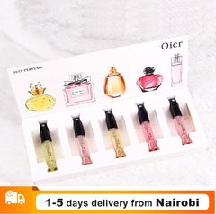 5PCS Perfume Women Atomizer Perfumed Beautiful Package Fashion Lady Flower Fruit Fragrance With Box As picture