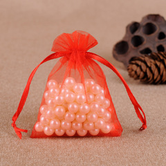 100pcs Transparent Halloween Organza Bags Christmas Gift Box Packaging Gift Bags Candy Wedding Bags red 5*7cm