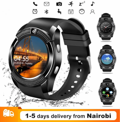 Smart Watches Bluetooth Waterproof Touch Screen Watch HD Camera/SIM Card For iPhone Android Phones black one size