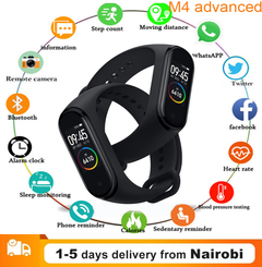 Smart band 4 Fitness Tracker Watch Sport bracelet Heart Rate Blood Pressure Smartband Monitor Health black one size