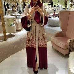 Fashion Islamic Clothing Muslim Turkish Dresses Abayas Women Abaya Dubai Dress m as picture