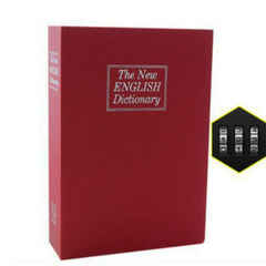 Dictionary Mini Safe Box Book Money Hide Secret Security Safe Lock Cash Money Storage Jewelry Locker red 180*115*55MM