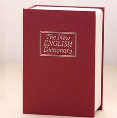 Dictionary Mini Safe Box Book Money Hidden Secret Security Safe Lock Cash Coin Storage Locker Gift red 11.5*8*4.5cm