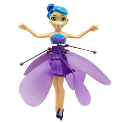 Flying Angel Dolls Princess Induction Control Flying Dolls Remote Control Flying Toys Creative Gift purple 21*17*6cm