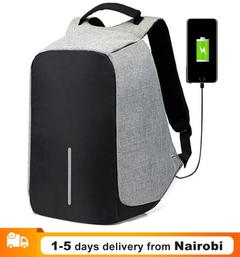 USB Charging Anti Theft Backpacks Men Travel Backpack 15 inch Laptop Backpack Waterproof School Bags dark gray 45*30*14cm