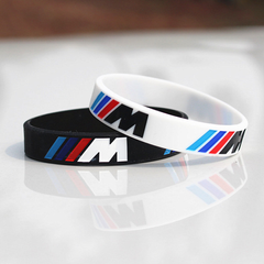 Engrave Hologram Bracelet ///M Sport M Power Black White Silicone Band for BMW Club Fans 1pcs white 195 x 12 x 2.5 mm
