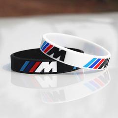 Engrave Hologram Bracelet ///M Sport M Power Black White Silicone Band for BMW Club Fans 1pcs black 195 x 12 x 2.5 mm