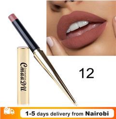 1Pc Waterproof Lipstick Matte Pumpkin Matte Lipsticks Cosmetics Sexy Lip Makeup Gift 12#