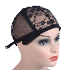Wig Cap For Making Wigs With Adjustable Strap Weaving Cap Size Glueless Wig Caps Hair Net black adjustable