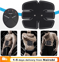 Electric Muscle Training Machine Fitness Gym Equipment Abdominal Muscle Trainer Body Slimming black