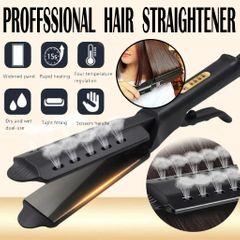 New Hair Straightener Irons Temperature Adjustment Ceramic Ionic Flat Iron Hair Straighteners Sales black One size