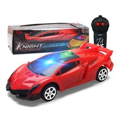 New Mini Upgrade Remote Control Car Toys With Light For Kids RC Two Way Lamborghini Gifts Sales Red 18*12*6CM