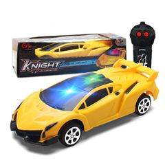 New Mini Upgrade Remote Control Car Toys With Light For Kids RC Two Way Lamborghini Gifts Sales Yellow 18*12*6CM