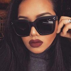 New Fashion Square Sunglasses Women Men Brand Designer Retro Mirror Sunglasses Vintage Glasses Sales Black square