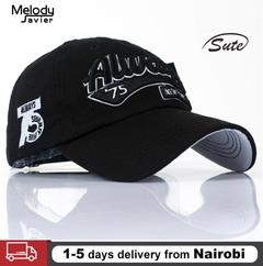 Hot Sell Snapback Caps Cotton Baseball Cap Men Women Letter Hip Hop Hats Golf Caps Sales Black FREE SIZE