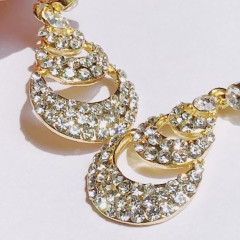 Floriane New Noble Luxurious  Vintage  India Court Style  Multilayer Rhinestone    Earring see pictures see information below