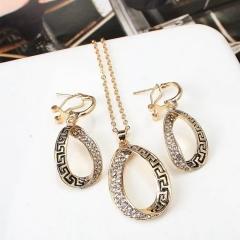 Floriane Women New Western Stylish Vintage Luxurious Diamond-Set Shining A Suit Necklace rose golden normal size