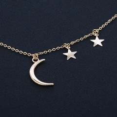 Floriane Women New Romantic Star And Moon Combination Choker Nacklace golden normal size