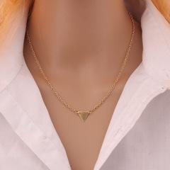 Floriane Women New Cute Stylish Triangle Golden Choker Short Necklace golden normal size