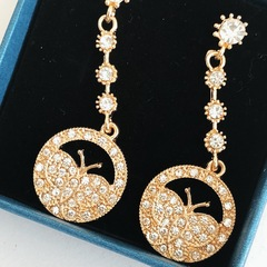 Floriane New Noble Luxurious Golden  Butterfly Rhinestone  Loops  Earring see pictures see information below