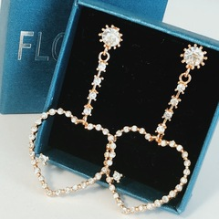 Floriane New Noble Luxurious Rhinestone Heart-Shape Loops Earrings Jewelry see pictures see information below