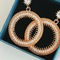 Floriane New Noble Luxurious Two Colour Rhinestone  Loops  Earring golden see information below