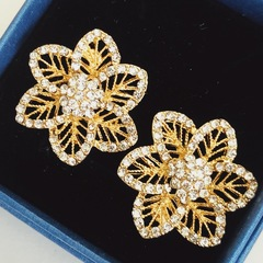 Floriane New Noble Luxurious Golden Rhinestone  Ear studs  Earring see pictures see information below