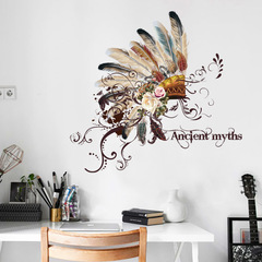 Floriane New Wall Stickers Ancient Myths Waterproof DIY Removable 50*70cm chief hat 50×70cm