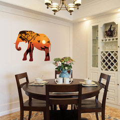 Floriane New Wall Stickers Creative Animal Design DIY Removable Two Styles  Home Decoration 60*90cm elephant 60×90cm
