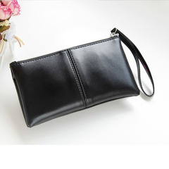 Floriane Woman New Fashion Functional Long Wallet Zipper PU Leather Four Color Handbag 20*12cm blue 20*12cm