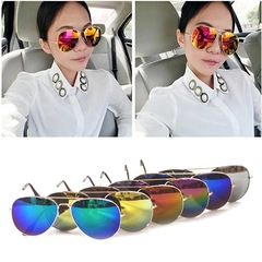 Floriane New Pilot Style Fashion Beautiful Sunglasses Man And Woman One Color See Picture colourful one size