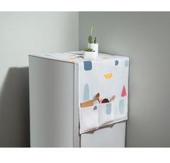 Floriane New Refrigerator Cover Geometric Figure Dustproof Organize Multi-Function Hanging Bag H035 Geometric Figure