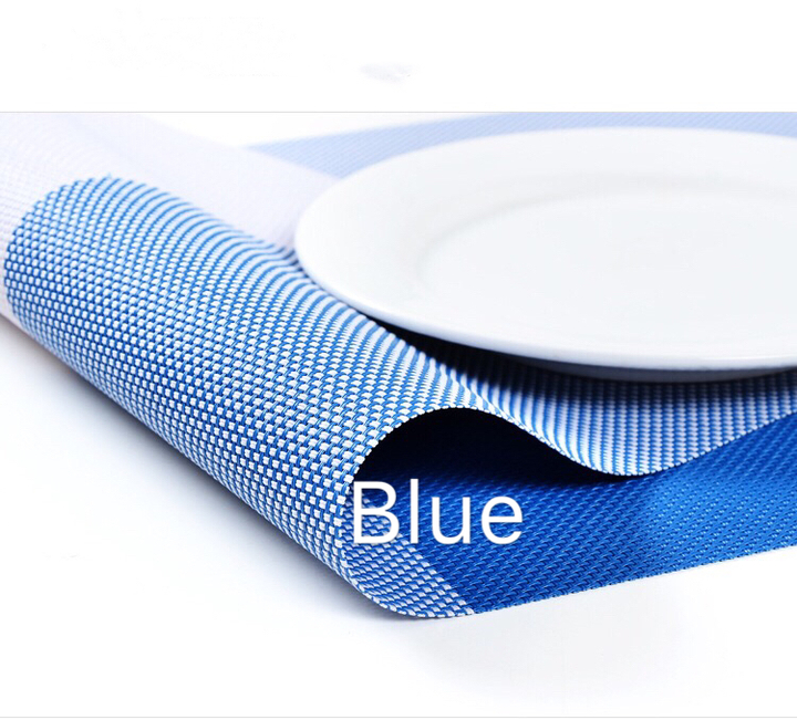 Floriane New High Quality Modern High Temperature Resistance Placemat Two Color 1 Pc H040 blue 44.5*29.5cm