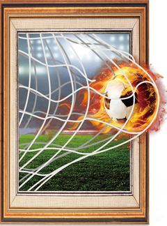 Floriane 3D Football World Cup Living room Office Personality Environmental Wall Sticker H045 football 45*60cm