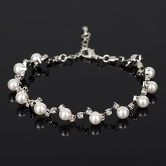 Floriane Beautiful Personality All-Match Pearl Crystal Bracelet One Size I027 white pearl one size