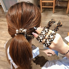 Floriane New Woman Temperament Leopard Print Hair Thick Rope Fashion Tow Color Rubber Band I053 2# 2.5cm*6.5cm