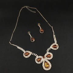 Floriane New Luxury Bridal Party Champagne Jewellery Set  I008 champagne one size