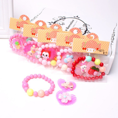 Floriane New 2 Sets Children's Lovely Candy Color Bracelet Girl's Gift Random I034 see picture see picture