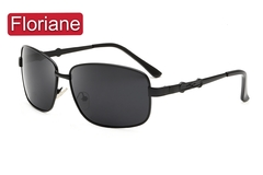 Floriane New Polarized Sunglasses For Men Metal Single-Beam Framed Black Color Outdoor Driving J003 black see information below