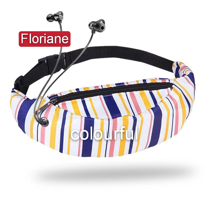 Floriane New Style All-Match Fashionable 3D Digital Printed 12 Colors Waist Bag Chest Bag colorful 60*45