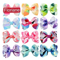Floriane 2Pcs Beautiful Girl Hair Wavy Butterfly Hairpin Pink L066 8#